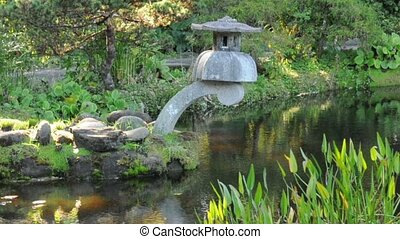 Zen Garden Decoration - A zen cement lantern decoration...