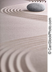 zen garden japanese garden zen stone with raked sand and ...