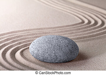 zen garden japanese garden zen stone with raked sand and ...