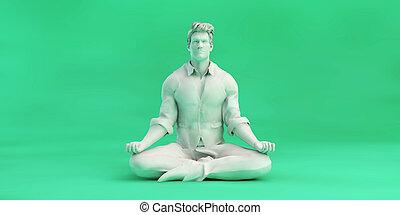 zen, homem, negócio