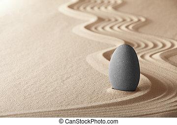 zen kert, symplicity, és, összhang, forma, egy, háttér,...