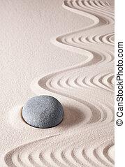 zen, méditation, pierre