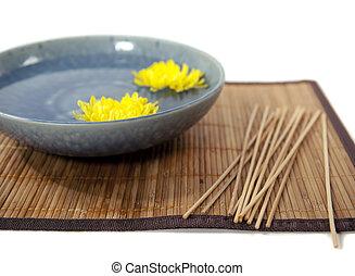 zen mat and scent sticks