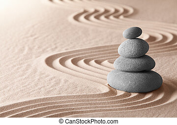 zen meditation garden, relaxation and meditation through...