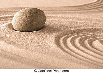 zen, meditation, stein