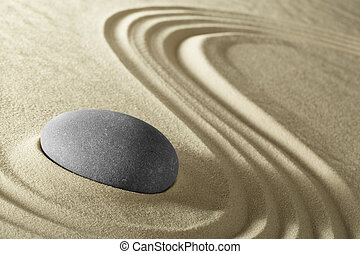 zen meditation stone background