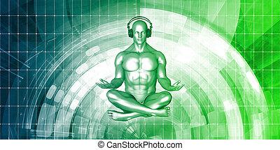 Zen Music Man With Headphone