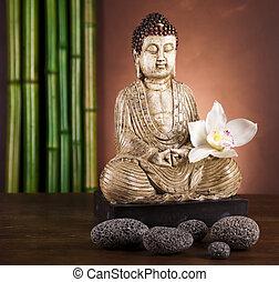 Zen of a buddha - Buddha statue in a meditation