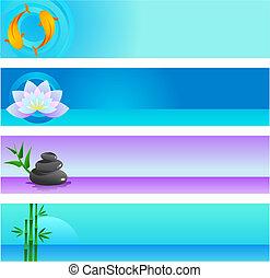 zen, plano de fondo, plantillas