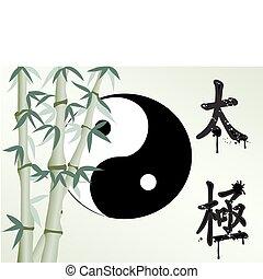 zen, semelhante, bambu