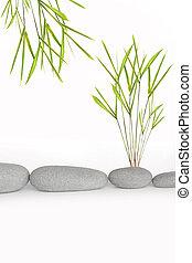 Zen Simplicity - Zen abstract of natural grey spa stones in...