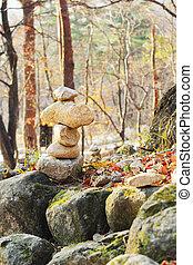 Zen stone building holy blessings .