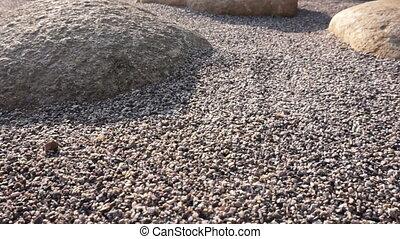 Zen stone garden decorate style - Zen stones and big rock...