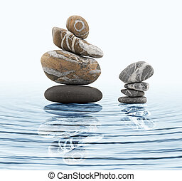 Zen stones in water