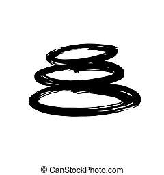 Zen Stones Ink Brush Vector