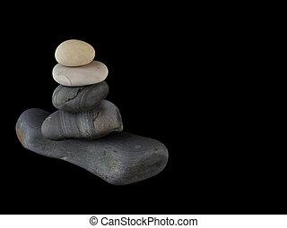 Zen stones rocks spa in stack mindfulness