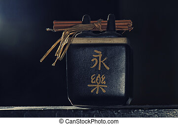 Zen tea cup set isolated