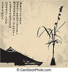 zen, vector, -, plano de fondo