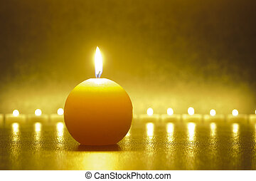 zen with candle light