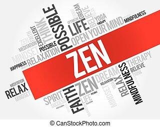 Zen word cloud