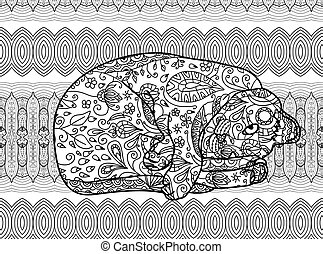 Zendoodle Coloring Page For Adults Funny Cat