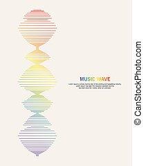 zene, háttér, lenget