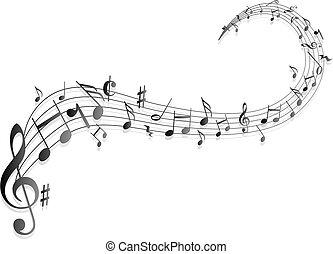 zene híres, hangjegykulcs