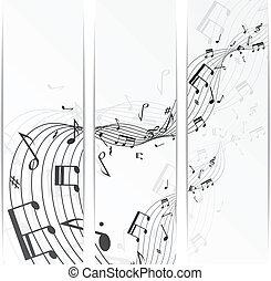 zene híres, transzparens