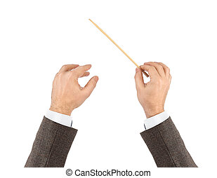 zene, karmester, kézbesít