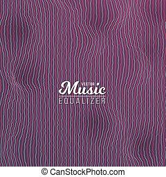 zene, kiegyenlítő, digitális, glitch, hatás
