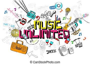 zene, korlátlan