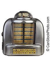 zene, pénzbedobós gramofon automata, antik