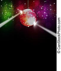 zene, sokszínű, disco, háttér