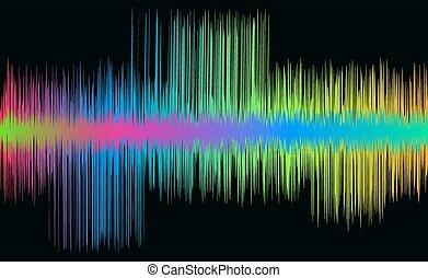 zene, színes, lenget