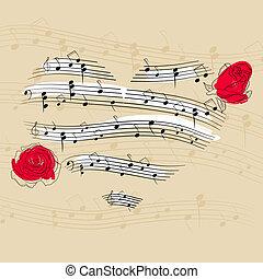zene, szív