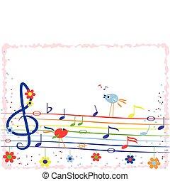 zene, szivárvány