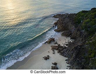 Zenith Beach Port Stephens - Aerial view of Zenith Beach...