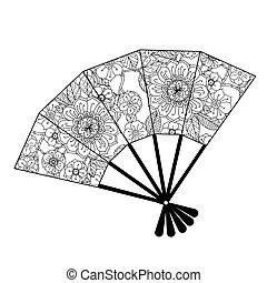 zentagle, oriental, ventilador