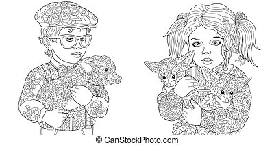 Zentangle art Coloring Pages