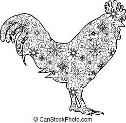 Zentangle chicken