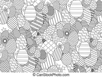 Zentangle easter egg
