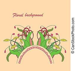Zentangle floral element.