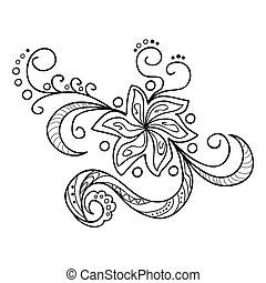 zentangle, květiny