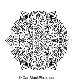 zentangle, mandala, zeichnung, hand, element