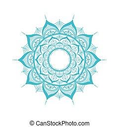 Zentangle mandala.Isolated on white.Vector illustration in...