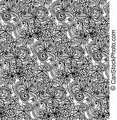 zentangle, seamless, パターン