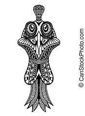Zentangle stylized Cock face. Hand Drawn doodle vector...