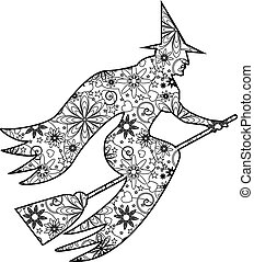 Zentangle witch