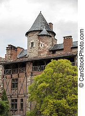zentrieren, frankreich, cahors, historisch, architektur, mittelalterlich
