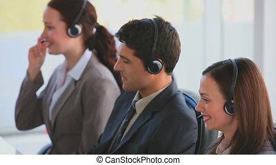 zentrieren, rufen, businessteam